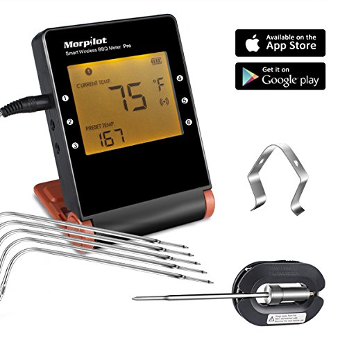 digital thermometer fleisch mit 6 f hler morpilot. Black Bedroom Furniture Sets. Home Design Ideas