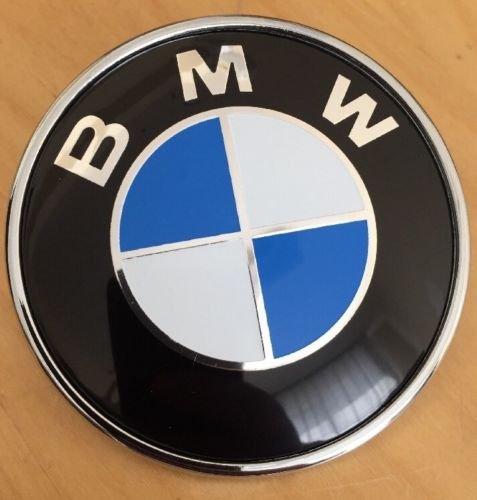 neu bmw emblem logo motorhaube 82mm plakette fur e36 e38. Black Bedroom Furniture Sets. Home Design Ideas