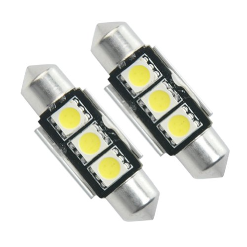 2x kfz canbus soffitte innenraum 36mm 3 smd led wei arukam. Black Bedroom Furniture Sets. Home Design Ideas
